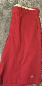 Dickies red shorts